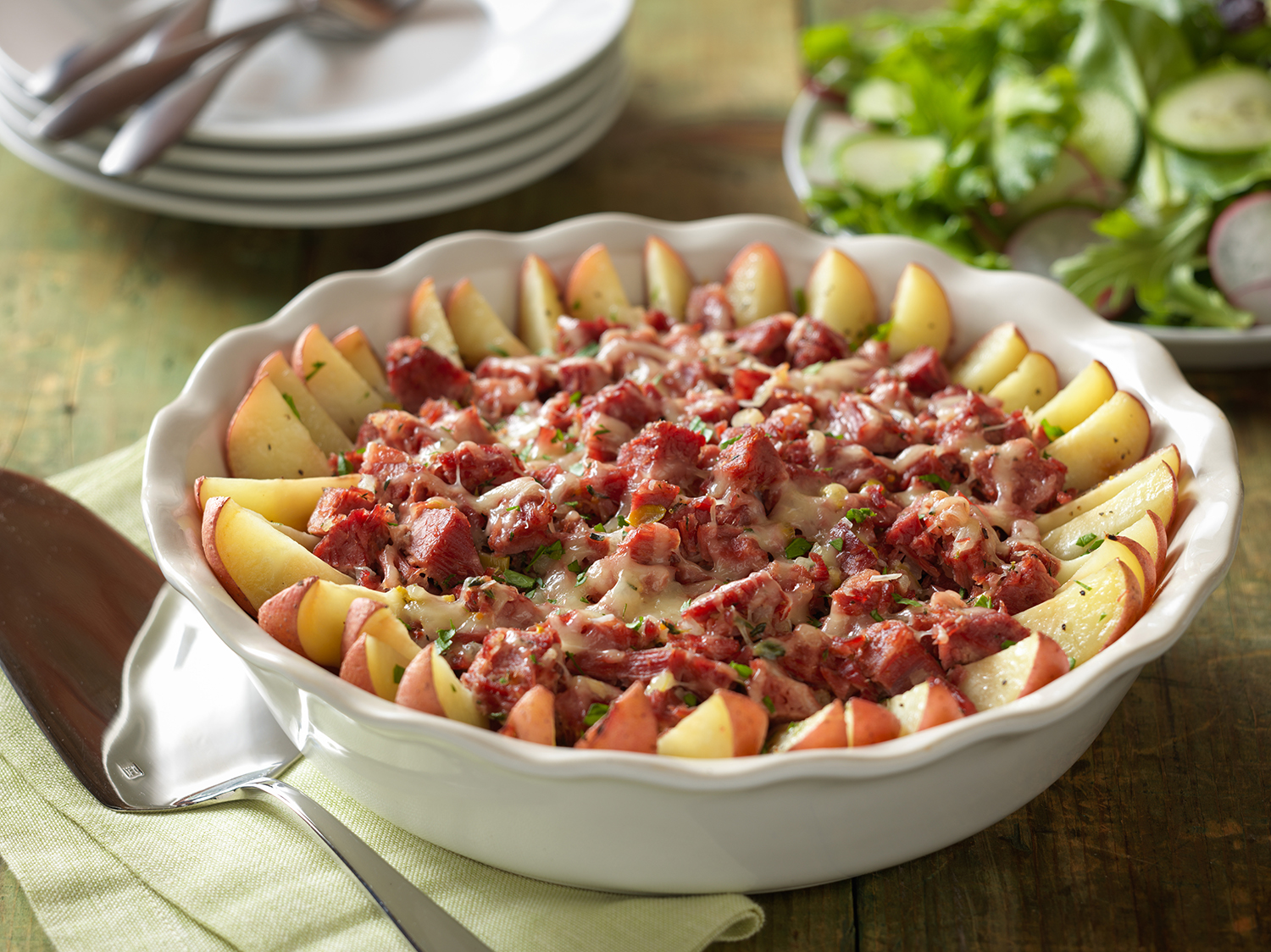 Rustic Corned Beef Potato Bake